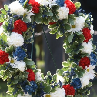 Wreath. Shot at Memorial Day Service in Warrenton, Virginia in 2011. Photo by Alexandra Bogdanovic