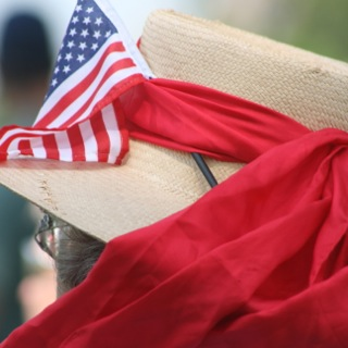 Old Glory. American Flag. Photo taken at Memorial Day Ceremony by Alexandra Bogdanovic