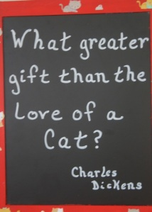 Charles Dickens quotation about cats.